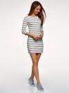 Платье трикотажное базовое oodji для женщины (белый), 14001071-2B/46148/1279S - вид 6