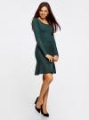 Платье вязаное с расклешенным низом oodji для женщины (зеленый), 63912223/46096/6E00N - вид 6