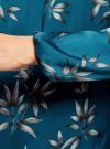 Блузка свободного кроя с вырезом-капелькой oodji #SECTION_NAME# (зеленый), 21400321-2/33116/6C23O - вид 5