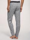 Брюки пижамные принтованные oodji для мужчины (серый), 7L400101I-1/47885N/2010G - вид 3