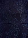 Платье трикотажное кружевное oodji для женщины (синий), 14001154-2/42644/7900N - вид 4