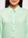 Блузка базовая из вискозы oodji #SECTION_NAME# (зеленый), 11411136B/26346/6501N - вид 4