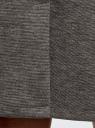 Юбка трикотажная со шлицей oodji #SECTION_NAME# (серый), 24101049-2B/38261/2501M - вид 5