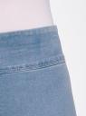Джинсы-легинсы на эластичном поясе oodji #SECTION_NAME# (синий), 12104068/47621/7000W - вид 4