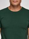 Футболка базовая приталенная oodji для мужчины (зеленый), 5B611004M/46737N/6900N