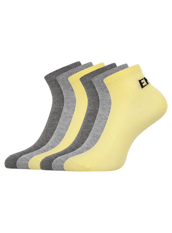 Комплект укороченных носков (6 пар) oodji для женщины (разноцветный), 57102418T6/47469/19T5P