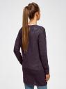 Кардиган ажурной вязки без застежки oodji #SECTION_NAME# (фиолетовый), 63210145-1/18231/8800M - вид 3