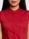 Рубашка с коротким рукавом из хлопка oodji #SECTION_NAME# (красный), 11403196-1/18193/4500N - вид 4