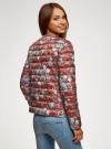 Куртка стеганая с круглым вырезом oodji для женщины (красный), 10204040-1B/42257/4920E - вид 3