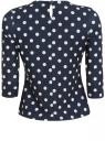 Трикотажная блузка oodji для женщины (синий), 21301375-1/26256/7912D
