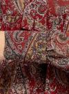 Платье шифоновое с асимметричным низом oodji для женщины (красный), 11913032/38375/4912E - вид 5