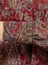 Платье шифоновое с асимметричным низом oodji для женщины (красный), 11913032/38375/4912E
