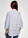 Рубашка свободного силуэта с асимметричным низом oodji #SECTION_NAME# (белый), 13K11002-3B/26357/1070O - вид 3