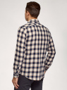 Рубашка хлопковая в клетку oodji для мужчины (белый), 3L310201M/50177N/1275C