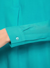 Блузка вискозная А-образного силуэта oodji #SECTION_NAME# (бирюзовый), 21411113B/26346/7300N - вид 5