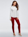 Рубашка приталенная с нагрудными карманами oodji для женщины (белый), 13L12001B/43609/1000N