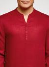 Рубашка льняная без воротника oodji #SECTION_NAME# (красный), 3B320002M/21155N/4500N - вид 4