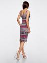 Платье-майка трикотажное oodji для женщины (красный), 14015007-2/47420/4C30E