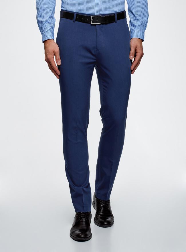 Брюки slim легкие oodji для мужчины (синий), 2B210021M/47747N/7500N