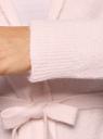 Кардиган удлиненный с капюшоном и карманами oodji для женщины (розовый), 73207204-2/45963/4000N