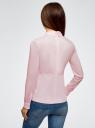 Блузка хлопковая с баской oodji #SECTION_NAME# (розовый), 13K00001-1B/42083/4000N - вид 3
