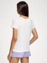 Пижама хлопковая с принтом oodji #SECTION_NAME# (белый), 56002239-1/46154/1280P - вид 3