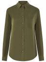 Блузка прямого силуэта с нагрудным карманом oodji для женщины (зеленый), 11411134-1B/49474/6800N