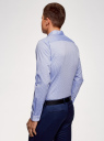 Рубашка из хлопка принтованная oodji #SECTION_NAME# (синий), 3L110311M/47778N/7079O - вид 3