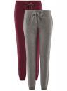 Комплект трикотажных брюк (2 пары) oodji #SECTION_NAME# (разноцветный), 16700030-15T2/47906/19NDN
