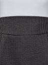 Юбка короткая с карманами oodji #SECTION_NAME# (серый), 11605056-2B/22124/2539C - вид 4