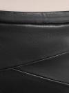 Юбка-карандаш из искусственной кожи oodji #SECTION_NAME# (черный), 18H01002/45059/2900N - вид 4