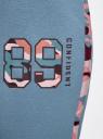 Брюки трикотажные с контрастной отделкой oodji для женщины (синий), 16701050/46919/744BB