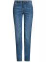 Джинсы базовые прямые oodji для женщины (синий), 12101146B/46277/7500W