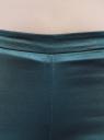Брюки зауженные с молнией на боку oodji для женщины (зеленый), 21706022-2/32700/6C00N
