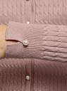 Кардиган вязаный с круглым вырезом oodji для женщины (коричневый), 63212613/33506/4B00N