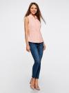 Рубашка базовая без рукавов oodji #SECTION_NAME# (розовый), 11405063-6/45510/4000N - вид 6