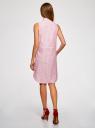 Платье хлопковое на кулиске oodji #SECTION_NAME# (розовый), 11901147-4B/45202/1045O - вид 3
