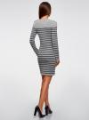 Платье вязаное с декором на плече  oodji для женщины (серый), 63912231/46750/2379S - вид 3