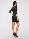 Платье жаккардовое с геометрическим узором oodji #SECTION_NAME# (зеленый), 14001064-6/35468/2962J - вид 3
