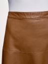 Юбка-колокол из искусственной кожи oodji #SECTION_NAME# (коричневый), 28H00002/42008/3700N - вид 4