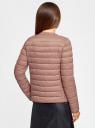 Куртка стеганая с круглым вырезом oodji для женщины (коричневый), 10204040B/33445/3701N