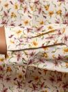 Блузка базовая из струящейся ткани oodji #SECTION_NAME# (бежевый), 11400368-9B/36215/3319F - вид 5