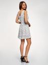Платье из струящейся ткани с бантом на спине oodji для женщины (белый), 11900181-2B/35271/1229O