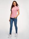 Рубашка хлопковая с коротким рукавом oodji #SECTION_NAME# (розовый), 13K01004B/33081/4110S - вид 6