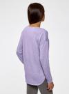 Джемпер свободного силуэта с вырезом-лодочкой oodji #SECTION_NAME# (фиолетовый), 63812580B/45494/8000M - вид 3