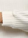 Джемпер укороченный в рубчик oodji для женщины (слоновая кость), 14800012/49648/3000N