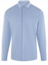 Рубашка базовая хлопковая oodji #SECTION_NAME# (синий), 3B110017M-3/44482N/7003N
