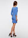 Платье трикотажное базовое oodji #SECTION_NAME# (синий), 14001071-2B/46148/7501N - вид 3