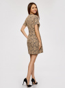 Платье приталенное кружевное oodji #SECTION_NAME# (бежевый), 11900213/45991/2935L - вид 3