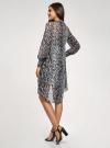 Платье шифоновое с асимметричным низом oodji для женщины (серый), 11913032/38375/2029A - вид 3